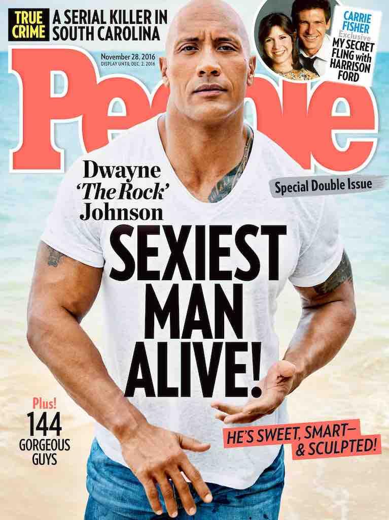 2016'da en seksi erkek seçilen Dwayne Johnson, Trump'ı ti'ye aldı