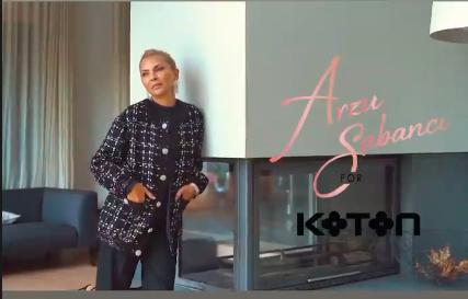 Arzu Sabancı, Koton için modellik yaptı.