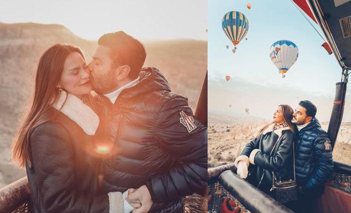 Ebru Şallı ve Uğur Karakuş'un aşk balonu