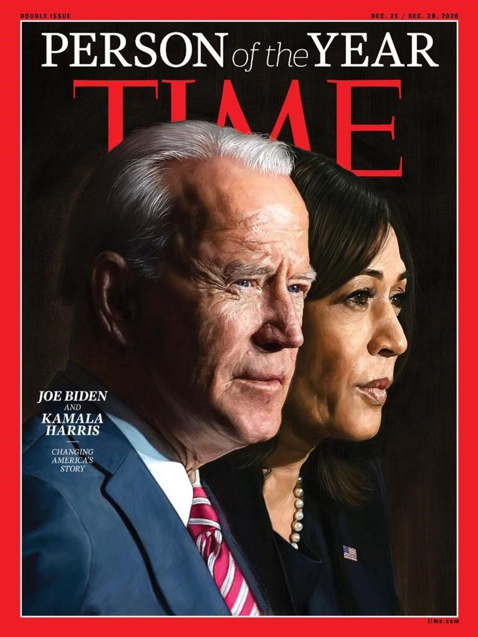 """""""2020 Yılın Kişisi"""" Joe Biden ve Kamala Harris oldu"""