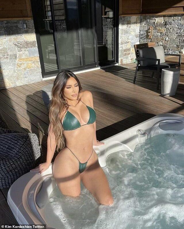 Kim Kardashian yaz, kış, dört mevsim bikinili