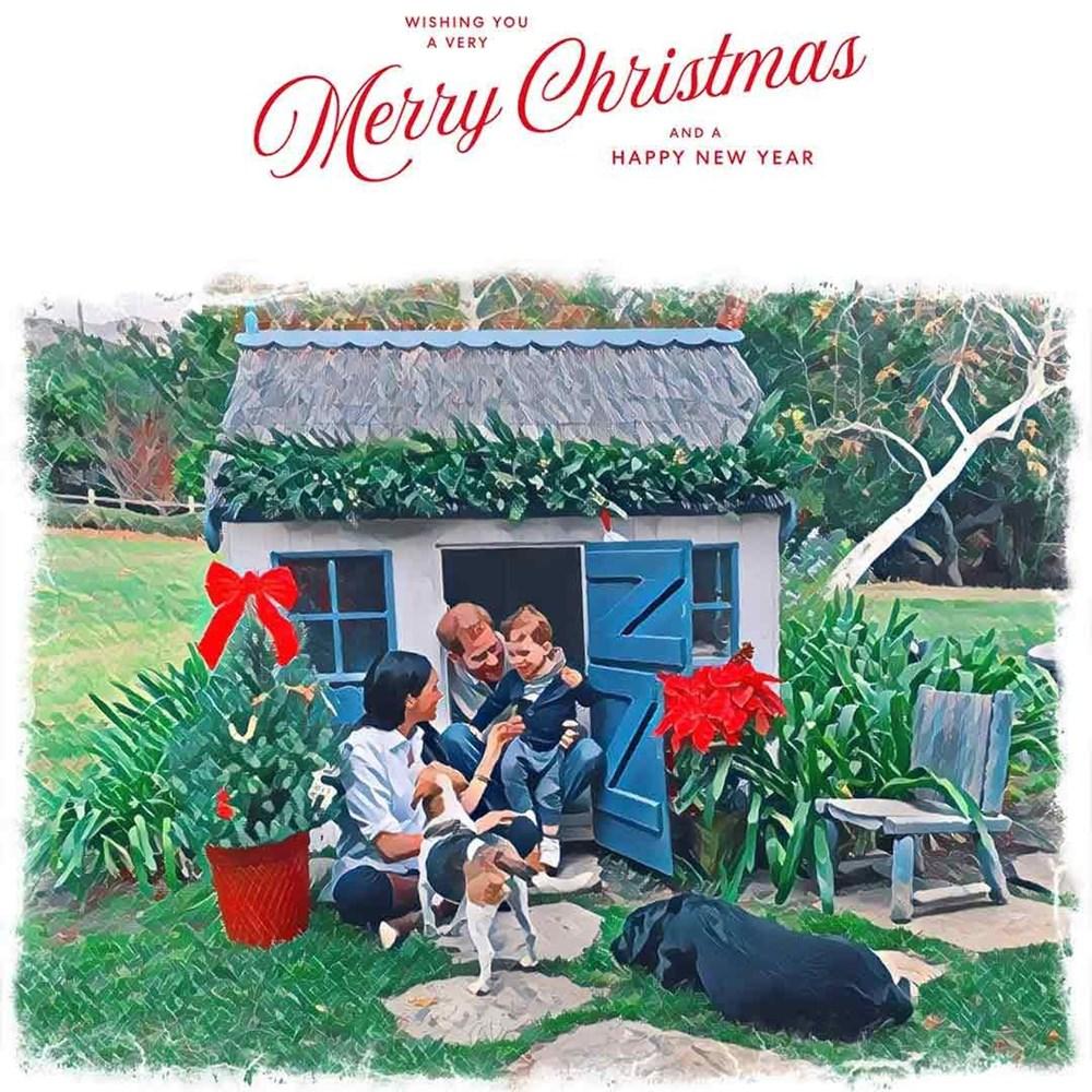 Prens Harry ve Meghan Markle, beklenen Noel kartlarını yayınladı.