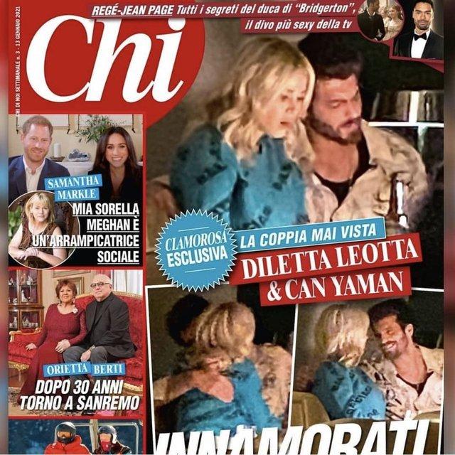 Can Yaman, Diletta Leotta aşkı İtalya'da kapak oldu.