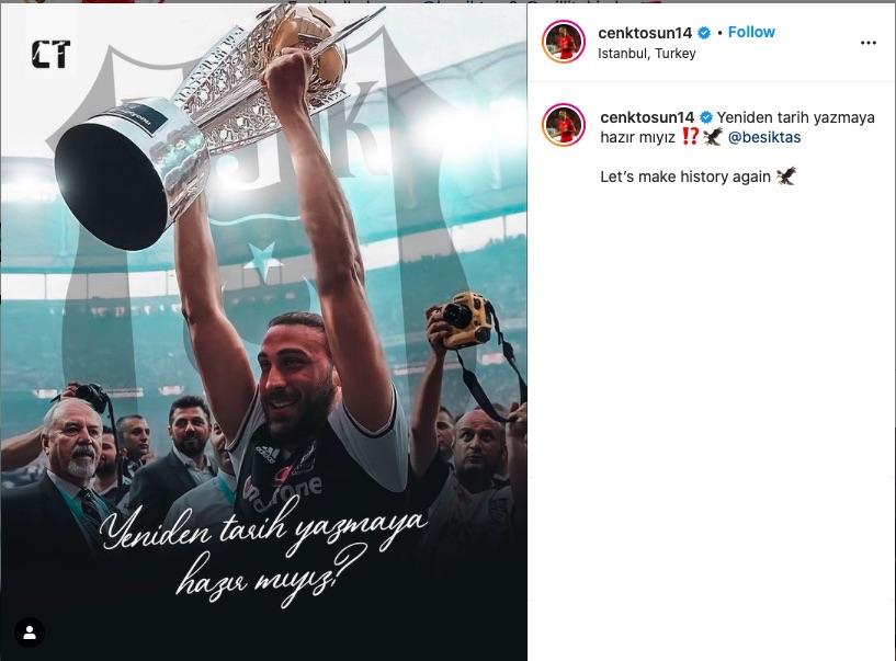 Cenk Tosun, Beşiktaş için ''Ben sende tutuklu kaldım'' dedi.