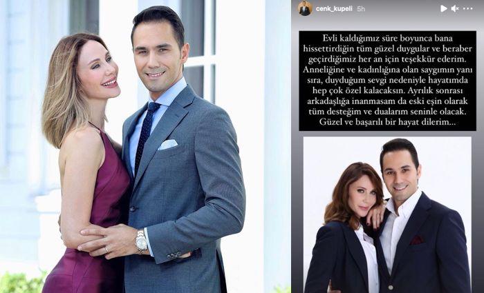 Demet Şener ve Cenk Küpeli teşekkür ederek boşandılar.