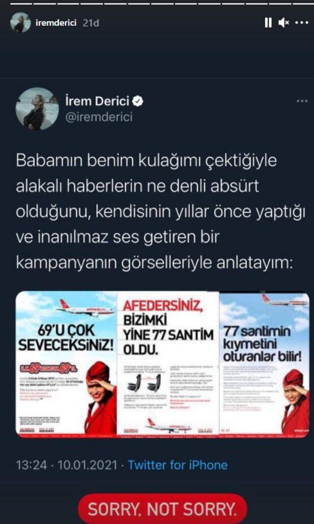 Mastürbasyon itirafına ailesi kızdı iddialarına babasının eski bir reklamıyla cevap verdi.