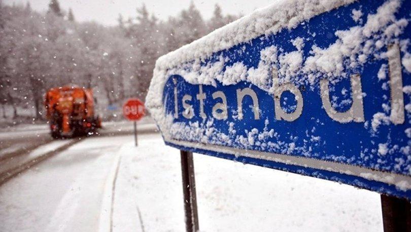 Balkanlar'dan gelen kar İstanbul'un kapısına dayandı