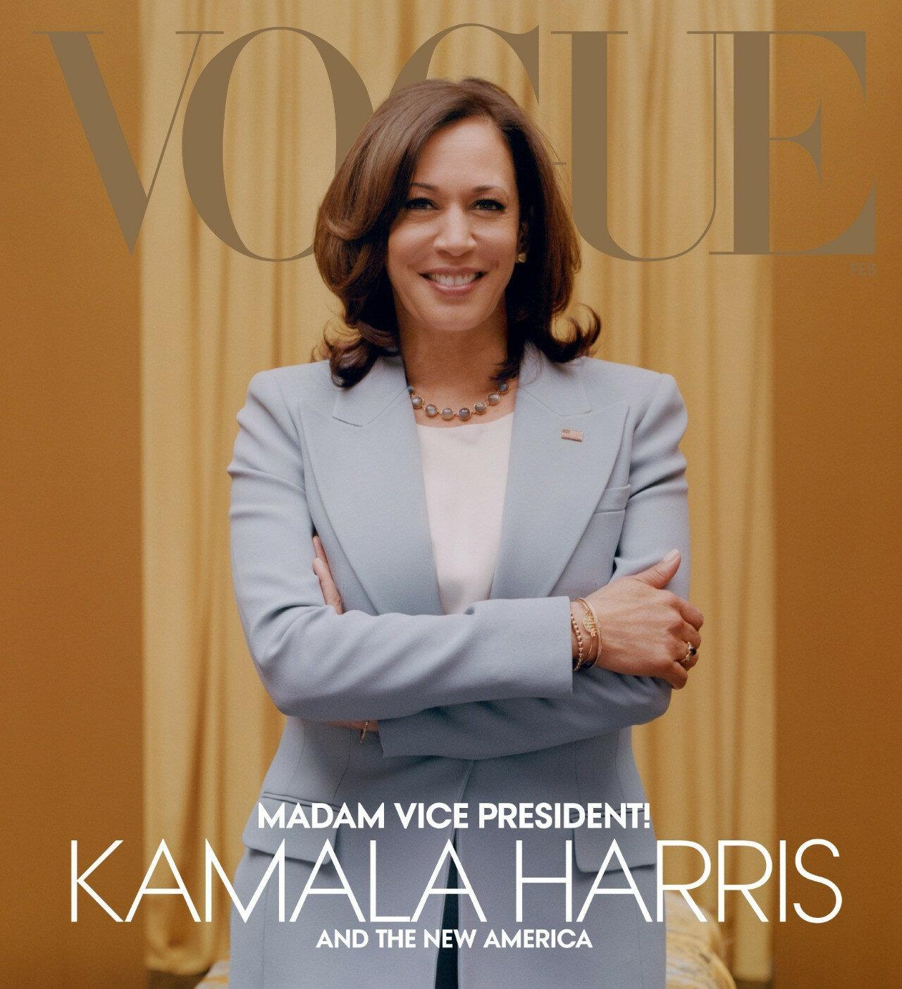 """Moda dergisi Vogue, Kamala Harris'i """"beyazlattı"""""""