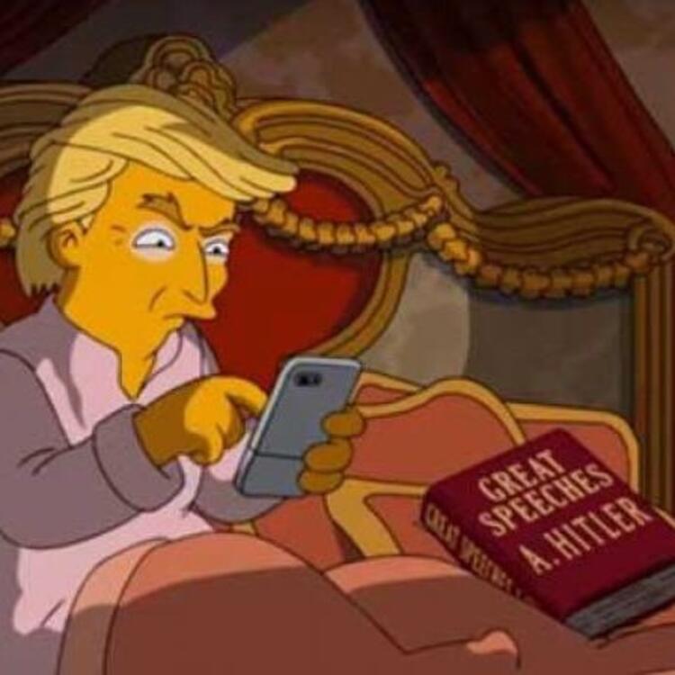 Simpsonlar, Donald Trump'a sosyal medya darbesini de bildi.