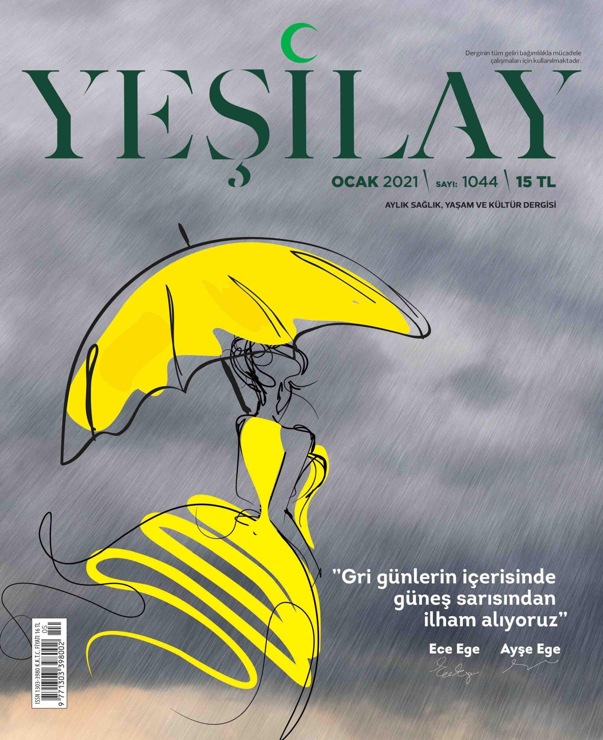 """Dice Kayek, Yeşilay Dergisi için """"Gri günlerde sarı bir umut"""" çizdi"""