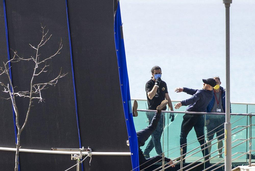 Jason Statham, Five Eyes'in çekimleri için Kaleiçi'nde.