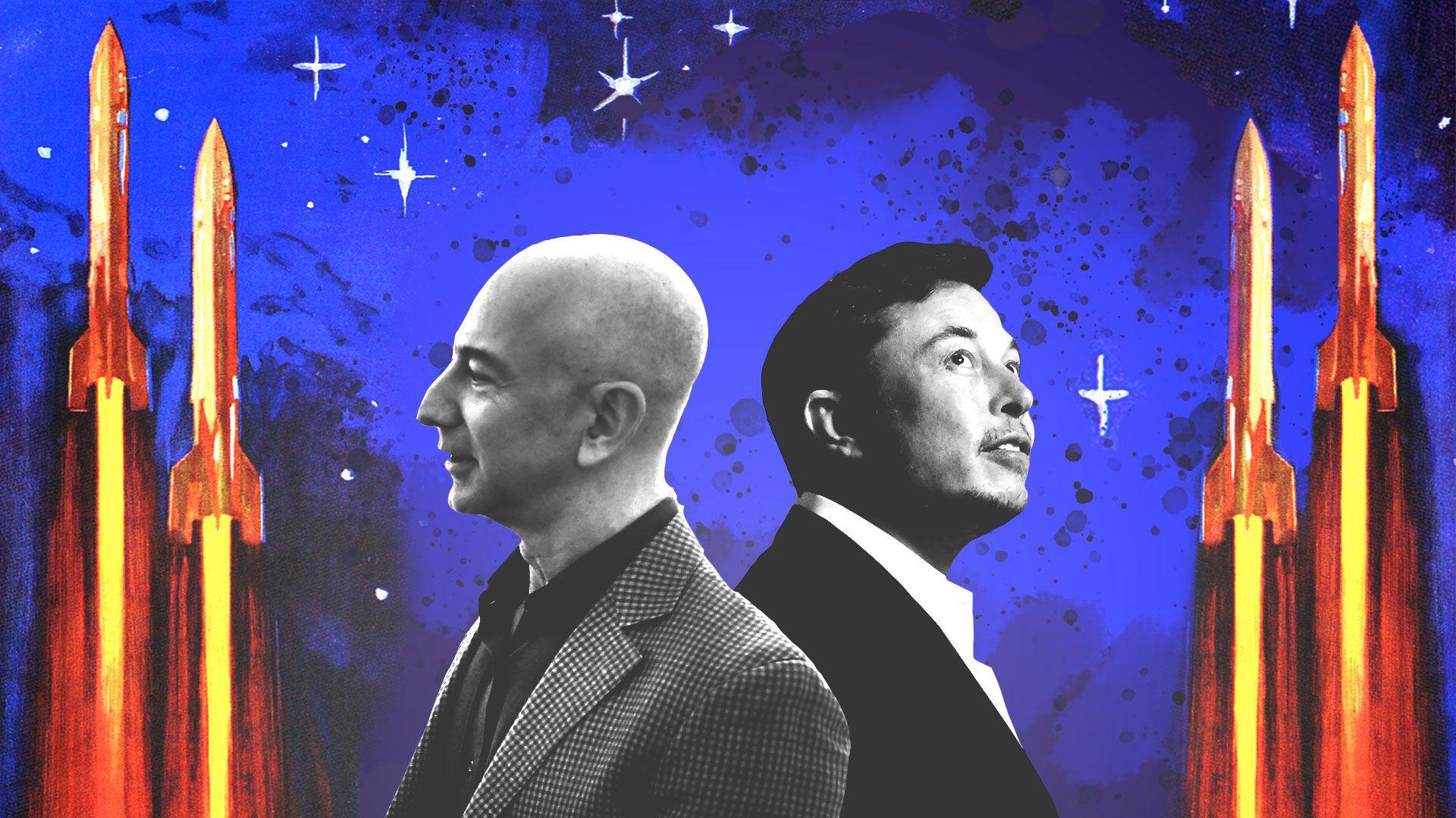 Elon Musk ve Jeff Bezosarasındaki 'kan davası'nın hikayesi