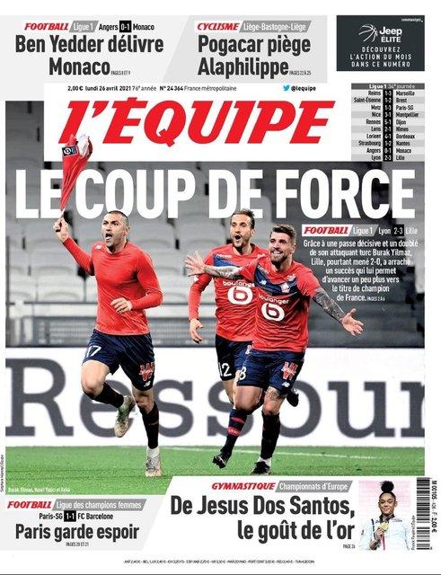 Burak Yılmaz, golleriyle Fransa'da manşetlere çıktı