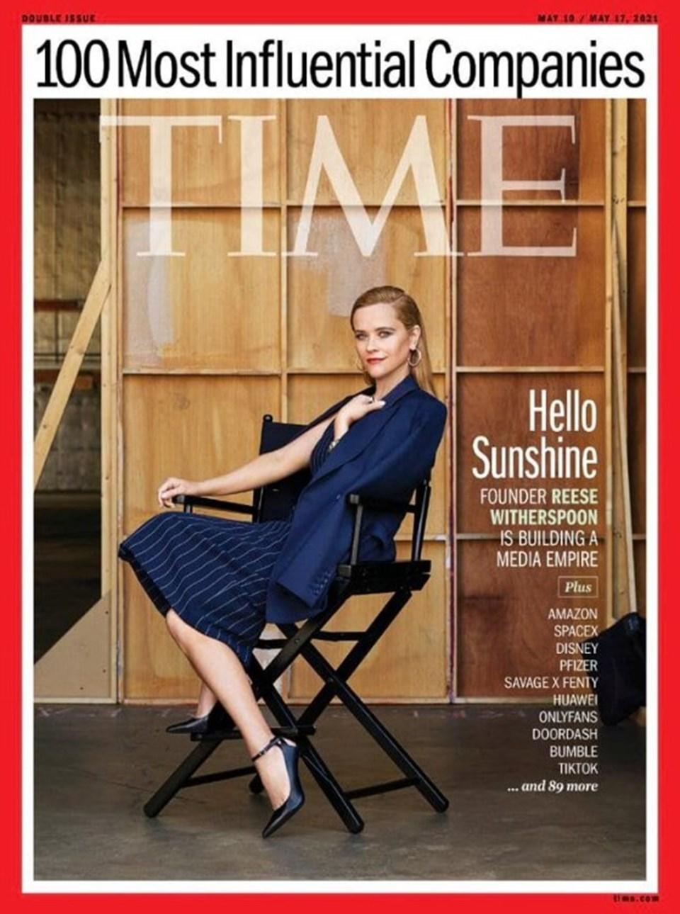 Oyuncu Reese Witherspoon iş kadını olarak Time'a kapak oldu.