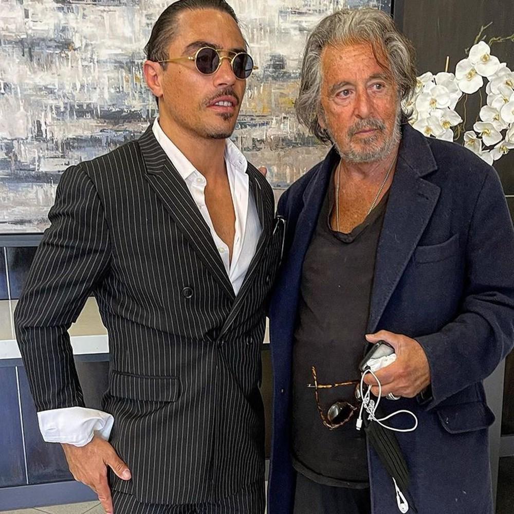 """Nusret Gökçe, Al Pacino ile buluştu. ''Bir hayalim daha gerçek olmişkeee"""" dedi."""