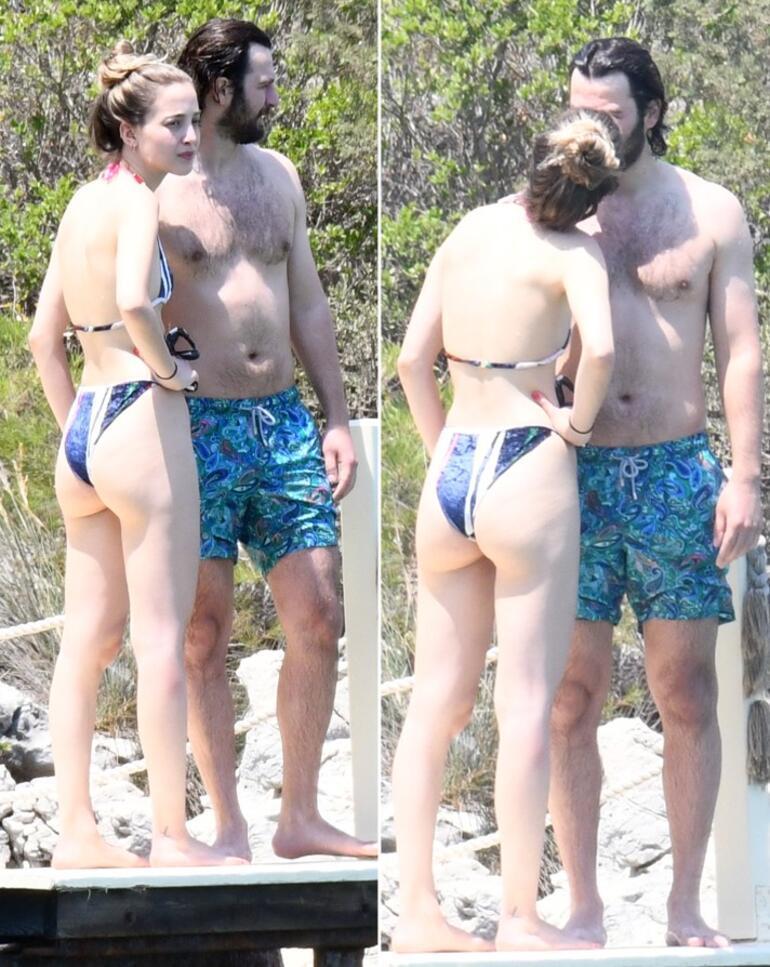 Birkan Sokullu ve sevgilisi Eda Gürkaynak tatilde sarmaş dolaş