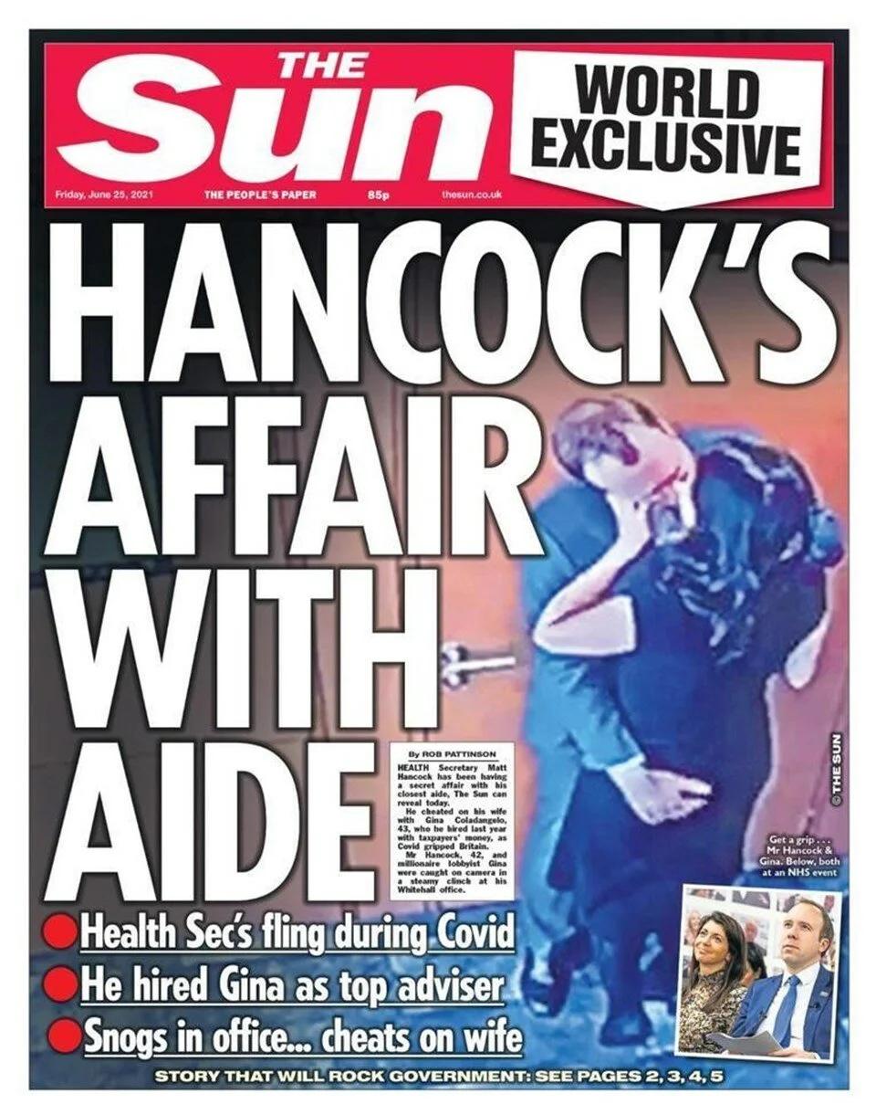 Eşini danışmanıyla aldatan İngiltere Sağlık Bakanı Hancock istifa etti