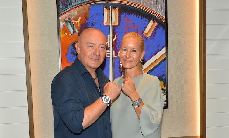 Ferit Şahenk, Hublot'un Bodrum Yalıkavak Marina Butiği için tasarladığı saati tanıttı.