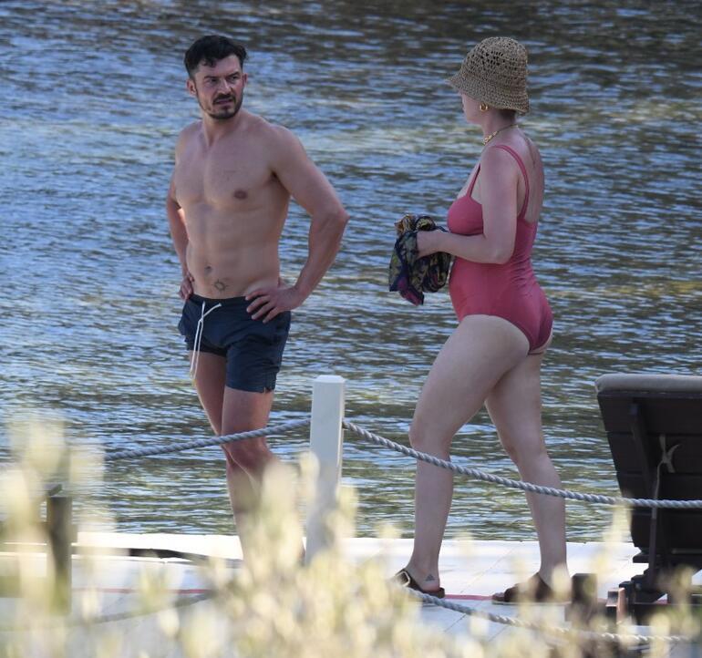 Katy Perry ve Orlando Bloom, Bodrum'da tatil yapıyor.