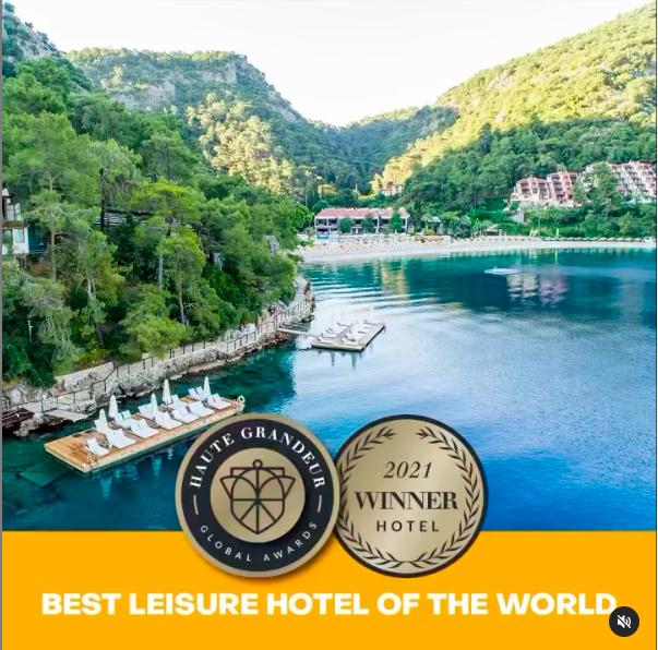 Hillside Beach Club, 'Dünyanın En İyi Leisure Oteli' seçildi