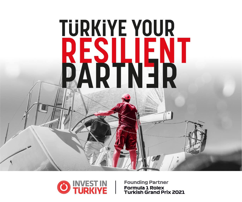 """Formula 1TM yarışında tüm dünyaya """"Invest in Türkiye"""" mesajı verilecek."""